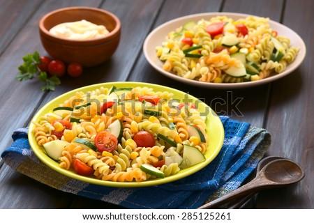 триколор · штопор · пасты · продовольствие · томатный · гриб - Сток-фото © digifoodstock