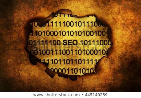 qr · code · reclame · oranje · knop · telefoon - stockfoto © tashatuvango