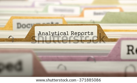 Analytical Reports - Folder Name in Directory. Stock photo © tashatuvango
