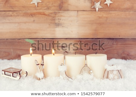 Second candle burning, Advent background Stock photo © andreasberheide