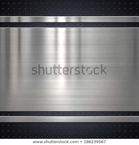 Polished metal plate  Stock photo © almir1968