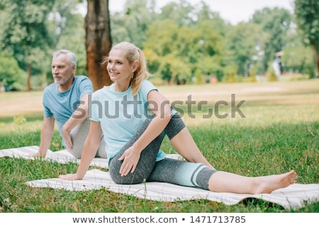 Piękna kobieta jogi trawnik miłości Zdjęcia stock © wavebreak_media