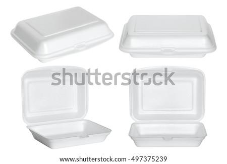Conjunto espuma comida recipiente ilustração projeto Foto stock © bluering