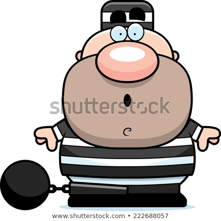 Scared Cartoon Prisoner Stock photo © cthoman