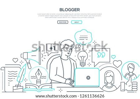 блоггер современных линия дизайна стиль веб Сток-фото © Decorwithme