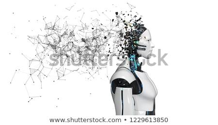 Robot Fragmented Head Networks White Stock photo © limbi007