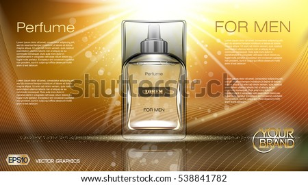 Cosmetic Glass Design Vector. Bottle. Oil, Water, Perfume. Premium Jar. 3D Isolated Transparent Real Stock photo © pikepicture