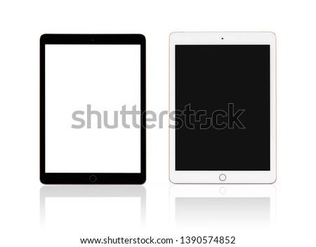 Neue Tablet weiß isoliert Telefon Stock foto © OleksandrO