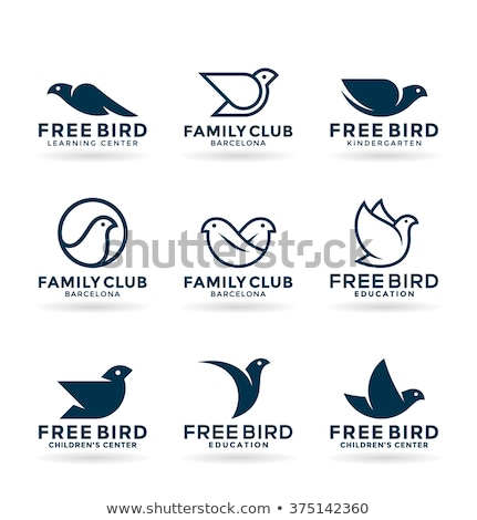 Estilizado águila aves vector icono símbolo Foto stock © blaskorizov