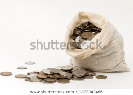 open white bag with russian ruble coins Stock photo © mizar_21984