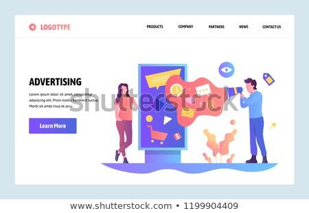Outdoor advertising design concept landing page. Stock photo © RAStudio