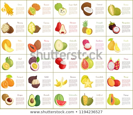 Papaya and Salak and Carambola Posters Set Vector Stock photo © robuart