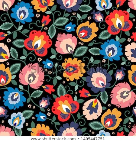 groene · naadloos · textuur · tulpen · voorjaar · achtergrond - stockfoto © redkoala