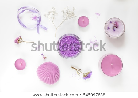 Wood violet flowers on a wooden spoon stock photo © madeleine_steinbach