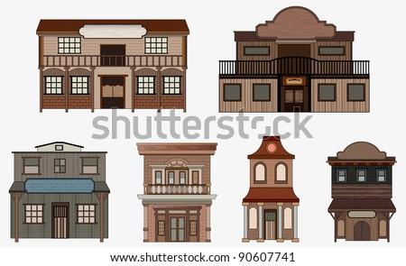 ドア 建物 西部 スタイル 実例 家 ストックフォト © colematt