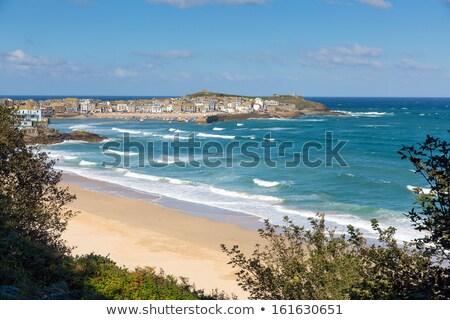 Tengerpart Cornwall égbolt tenger kék Anglia Stock fotó © latent