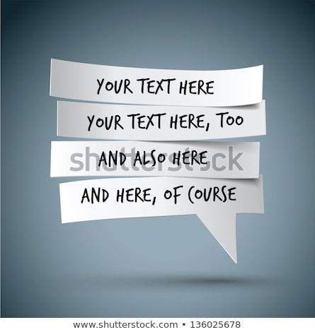 négy · dizájnok · szövegbuborékok · illusztráció · háttér · művészet - stock fotó © colematt