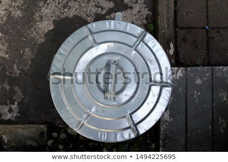 Metal trash can with lid Stock photo © magraphics