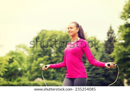 Jumping Rope Working Out Woman Training Fitness Stock photo © robuart