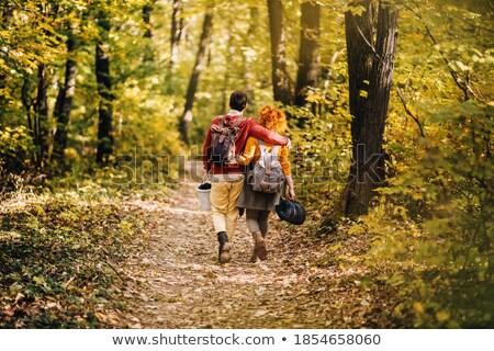Couple Enjoying Picnic Outdoors In Autumn Woodland Stock photo © monkey_business