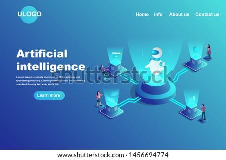 Crypto trading bot concept landing page Stock photo © RAStudio