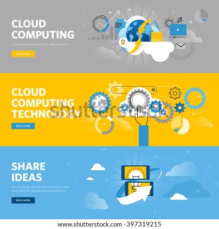 Cloud technology banners set Stock photo © Genestro