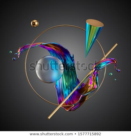 Abstrato néon círculos noite brilhante brilho Foto stock © wywenka