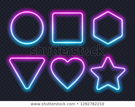 Geometric Shapes Neon Signs Set Star Triangle Stock photo © robuart