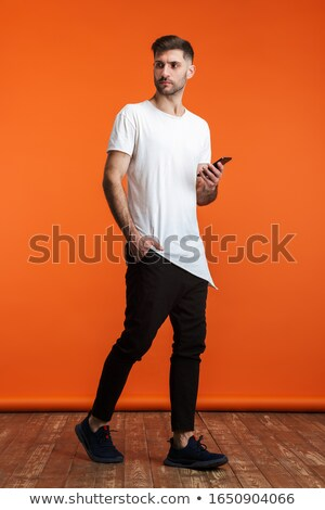 Afbeelding jonge bebaarde man fundamenteel Stockfoto © deandrobot