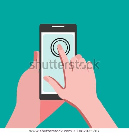 Mão humana assinar para cima tela Foto stock © karetniy