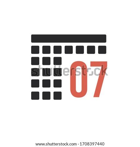 Month 7 July Calendar organizer icon. Stock Vector illustration isolated on white background. Stock photo © kyryloff