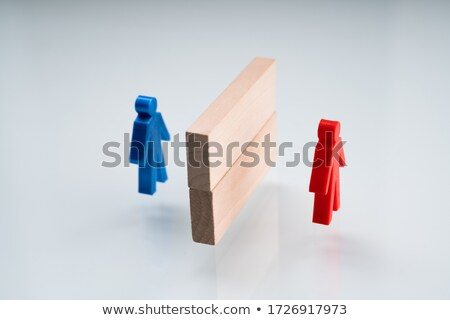 Red And Blue Pawn Separated Stock photo © AndreyPopov
