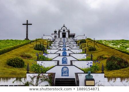 Dama paz capilla Portugal isla paisaje Foto stock © hsfelix