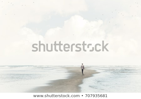Alone in the beach Stock photo © iko