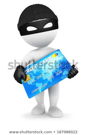 3d small people - thief with a credit card Stock photo © AnatolyM