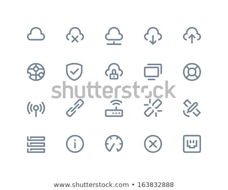 lifebuoy computer icon vector outline illustration Stock photo © pikepicture
