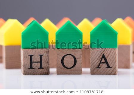 Huiseigenaar home eigenaar gemeenschap man achtergrond Stockfoto © AndreyPopov