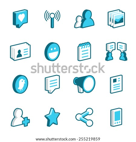 Podcast And Radio Isometric Icons Set Vector Stock photo © pikepicture