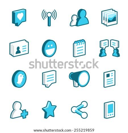 Podcast radio isometrische vector internet Stockfoto © pikepicture