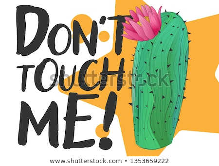 Don't touch Me - Cute hand drawn cactus print Stock photo © Zsuskaa