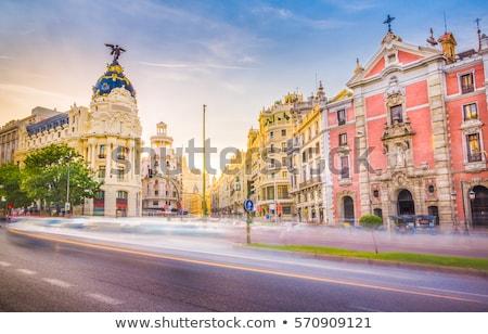 fonte · Madri · Espanha · edifício · cidade · azul - foto stock © vlaru