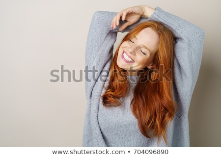 Winter Woman - Pretty female in winter knitwear and beautiful ma Stock photo © lovleah