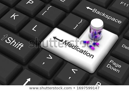 Gyógyszer belépés kulcs Stock fotó © 4designersart