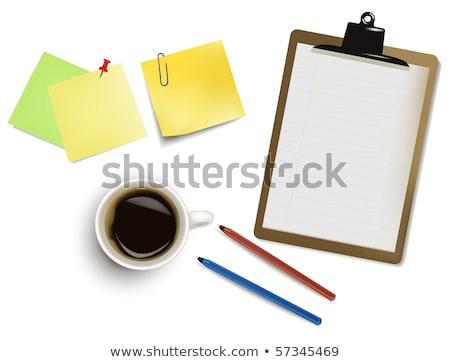 クリップボード 開いた本 実例 学校 鉛筆 教育 ストックフォト © pkdinkar