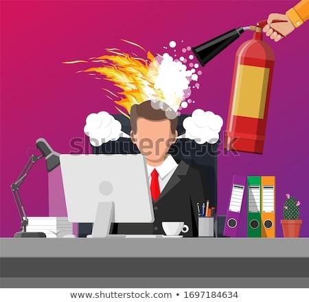 Zdesperowany biznesmen działalności komputera biuro strony Zdjęcia stock © photography33