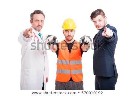 angry construction businessman pointing at you Stock photo © photography33