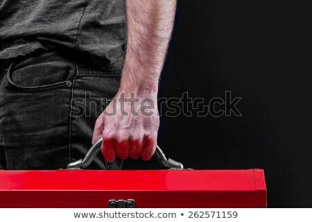 man holding red tool box stock photo © photography33