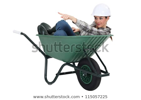craftswoman sitting in a barrow Stock photo © photography33
