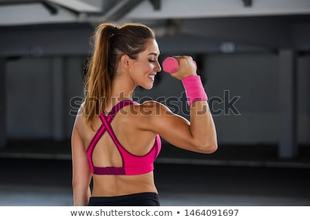 female athlete dumbbell Stock photo © adam121