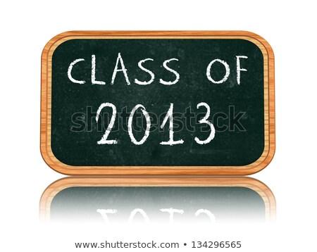 Osztály 2013 iskolatábla szalag kréta szöveg Stock fotó © marinini